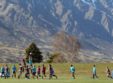 Ireland team training in Queenstown this week.