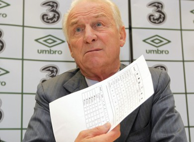 Giovanni Trapattoni meets the press this week.