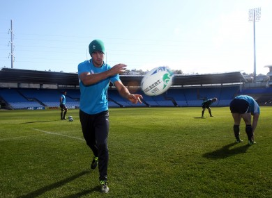 Conor Murray is put through his paces in Dunedin earlier today.