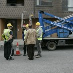 Dublin council contractors on site