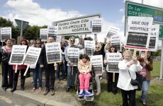 Protesters bid to save Loughlinstown emergency department