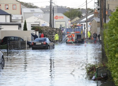 A flooded road in Harold's Cross today