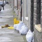Cleaning up in Ringsend, Dublin. Image: Sasko Lazarov/Photocall Ireland