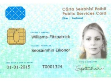 A mock-up of the new identity cards.
