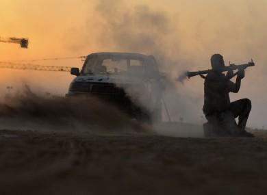 A rebel fighter near Sirte in recent days