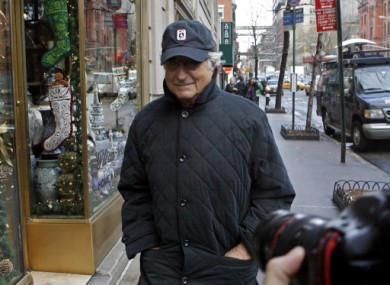 File photo from December 2008 of Bernie Madoff in New York.