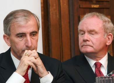 Martin McGuinness (right) has said Gay Mitchell and Michael D Higgins would make supporting their government a priority.