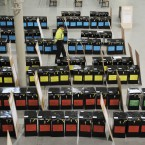 The ballot boxes for the Presidential Election and Referendums 2011 pictured in the Main Hall of RDS after they have been moved there for safety reasons after threat from the recent rain and flooding. Photograph: Sasko Lazarov/Photocall Ireland