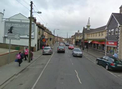 Drogheda Street in Balbriggan, where an An Post worker was forced to attend work under duress this morning.