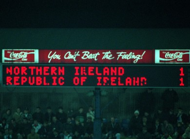 1-1: the scoreline that sealed Ireland's qualification for USA 94.