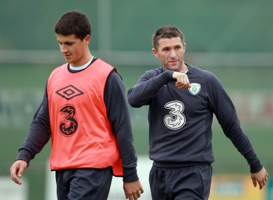 Shane Long and Robbie Keane - will they be fit to face Estonia?