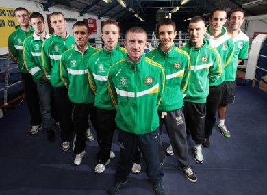 The Ireland team ahead of their departure for Baku.