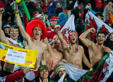 Wales fans are on the move too ahead of Saturday.