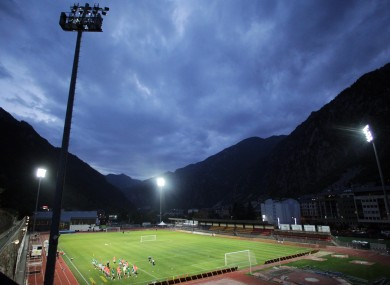 Stage set: Andorra's Comunal Stadium