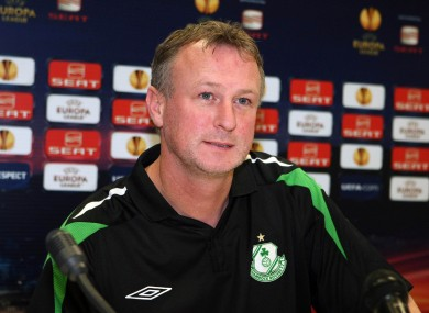 Michael O'Neill faces the press last night.