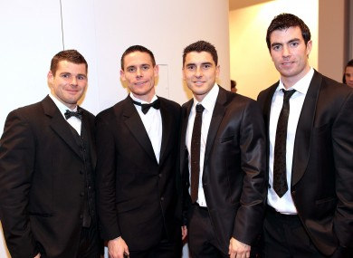 Dublin's Kevin McMenamon, Stephen Cluxton, Bernard Brogan and Michael Darragh McCauley.