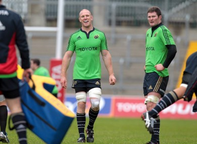 Paul O'Connell will return for Munster tomorrow.