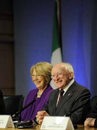 Michael D Higgin - the ninth President of the Republic of Ireland