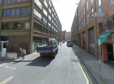 Setanta Place, Dublin, where the woman was robbed