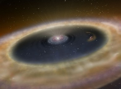 Artist's conception of the area near the planet LkCa 15 b.