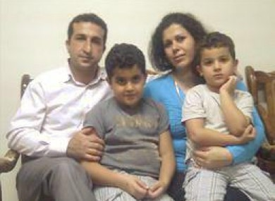 Youcef Nadarkhani and family, as pictured on a Facebook site in support of the Iranian pastor.