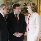 Senator Martin McAleese, Brian Cowen and President McAleese