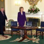 Bertie is at the Áras once more to reshuffle his Cabinet.
