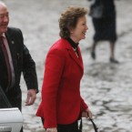 Former President Mary Robinson arrives at Dublin Castle for the inauguration. Image: Niall Carson/PA Wire