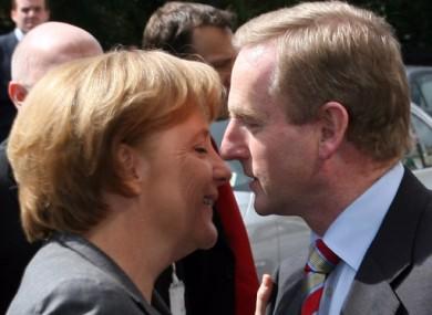 Merkel and Kenny meeting in April 2008 in Dublin.