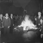 There were street bonfires all around Dublin city on Saturday night, 25 June 1938 to celebrate the inauguration of the State's first President.