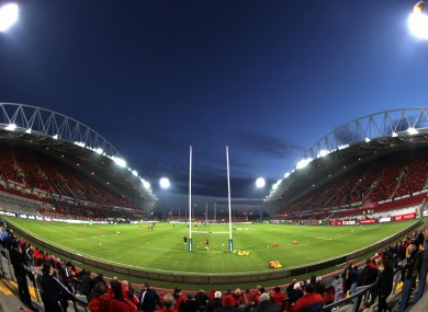 Thomond Park: will host one group game next year.