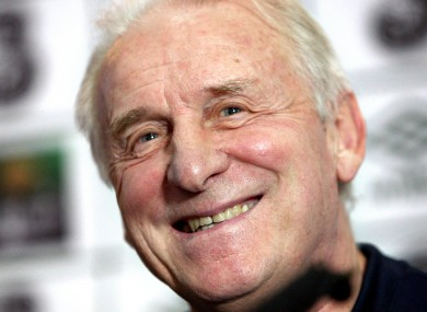 Trapattoni, or 'Jovanni,' as the Corrigans prefer to call him, has a chuckle at yesterday's press conference.
