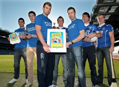 Emlyn Mulligan, Alan Freeman, Aidan O'Shea, Paul Brennan, Oisin McConville Stephen McGurrin and James Phelan at the launch of