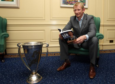 Cullen poses with the Heineken Cup at the launch of his new book.