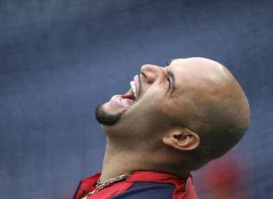 Albert Pujols: laughing all the way to the bank.
