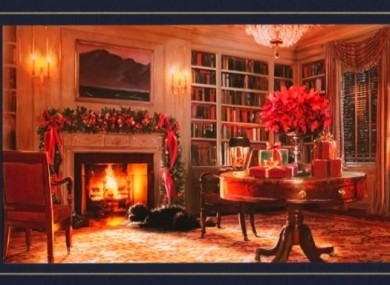 The Obamas' Christmas card featuring the White House dog, Bo, is not going down well in all quarters.