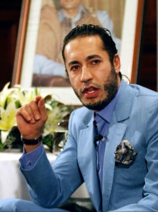 Saadi Gaddafi pictured here in 2005