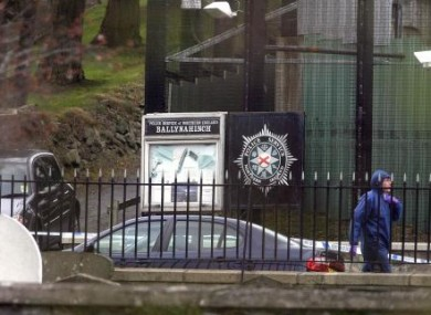 A forensic police officer at the scene of the Ballynahinch shooting, April 2006.