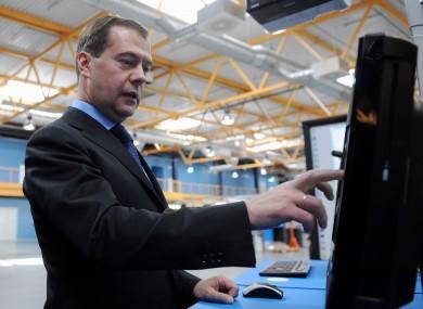 Dmitry Medvedev pictured last year