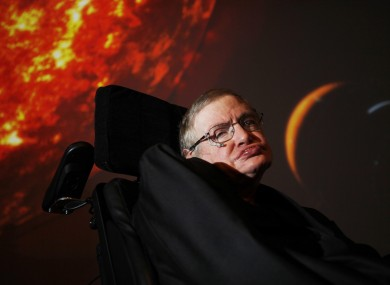 Stephen Hawking (File photo)
