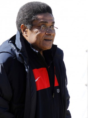 Eusebio at the World Cup in South Africa back in 2010.