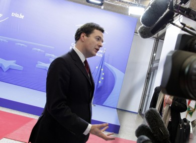 George Osborne has told his EU counterparts that Britain will not contribute to a €200bn programme of EU lending to the IMF.