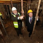 Cllr Michael Guilfoyle and David Humphreys, Conservation Engineer, pictured at the house (Brian Arthur/Press 22)
