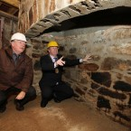 Cllr Michael Guilfoyle and Dick Cronin, Architectural Conservation Officer, pictured at the house (Brian Arthur/Press 22)