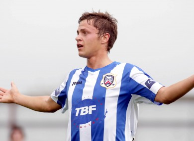The defender had just won the game with an extra-time goal for his Coleraine side.
