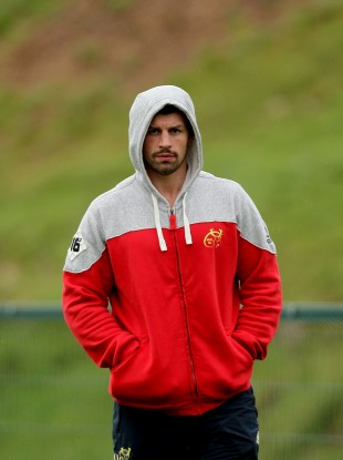 Munster man Denis Leamy at squad training at Cork IT yesterday.