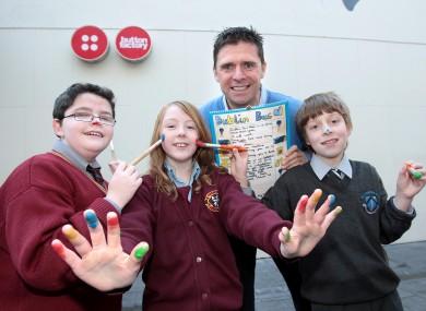 Quinn was in Dublin for the launch of Dublin Bus 10th Childrens Art Calendar last week.