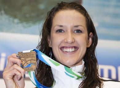 Ireland's Melanie Nocher with her bronze medal.