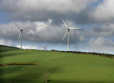Wind turbines in Wicklow