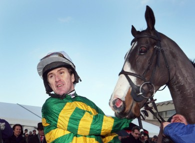 Tony McCoy with Synchronised, days before breaking ribs at Taunton